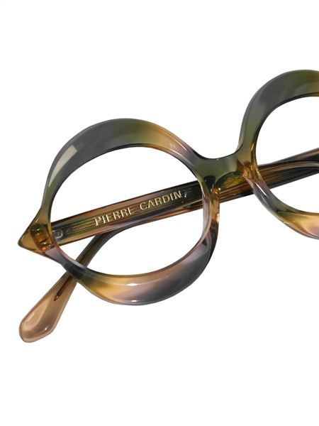 "PIERRE CARDIN 1960s Vintage Small ""Kiss"" Sunglasses Frame Rainbow NOS"