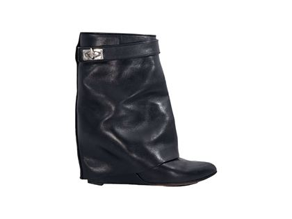 black-givenchy-leather-shark-lock-wedge-boots