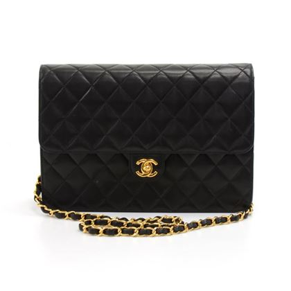 chanel-10-classic-black-quilted-lambskin-leather-shoulder-flap-bag-ex