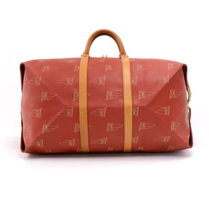 vintage-louis-vuitton-1995-lv-cup-red-coated-canvas-duffel-travel-bag-strap-limited-ed