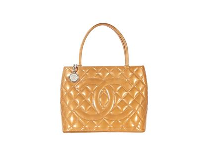 tan-chanel-quilted-patent-leather-tote-bag