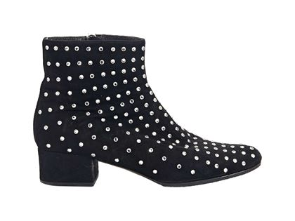 black-saint-laurent-studded-suede-ankle-boots