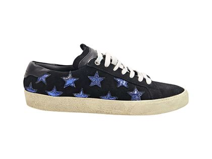 black-blue-saint-laurent-star-suede-sneakers