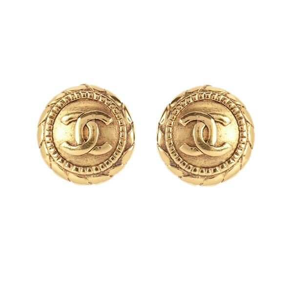 1990s-vintage-chanel-rope-round-clip-on-earrings