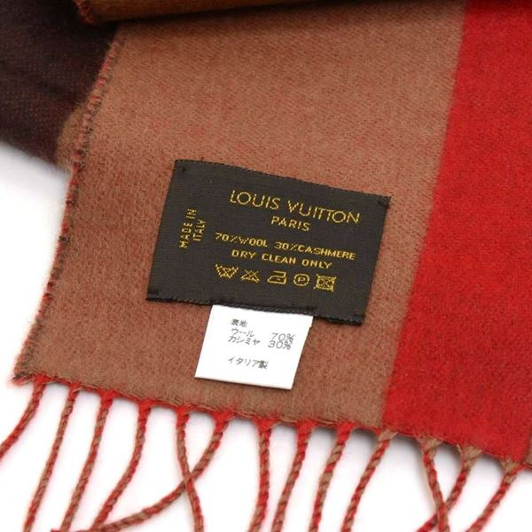 louis-vuitton-striped-tricolor-red-wool-cashmere-blend-scarf