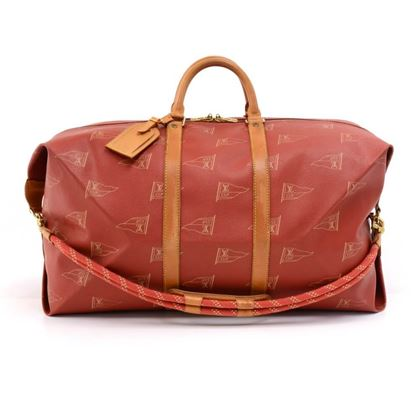 vintage-louis-vuitton-1995-lv-cup-red-coated-canvas-duffel-travel-bag-strap-limited-ed-2