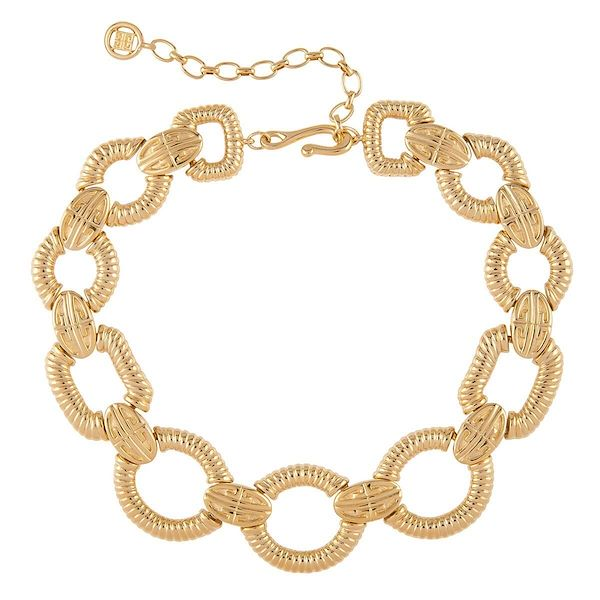 1980s-vintage-givenchy-ribbed-link-necklace