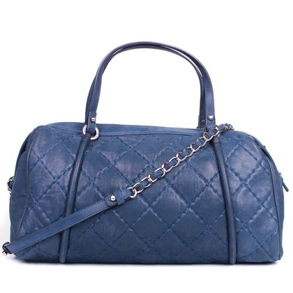 chanel-duffle-shoulder-bag-blue-quilted-leather-cc-silver-camera-case-tote-pre-owned-used