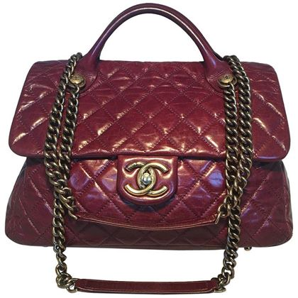 chanel-maroon-distressed-quilted-leather-large-classic-flap-shoulder-bag