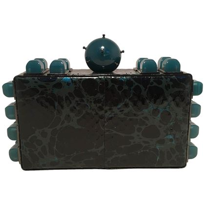 tonya-hawkes-black-teal-and-green-leather-paint-splatter-convertible-clutch