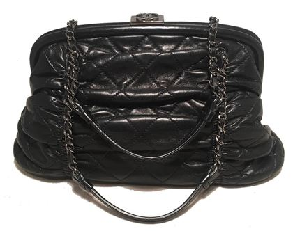 chanel-black-quilted-ruched-leather-small-sharpei-frame-handbag