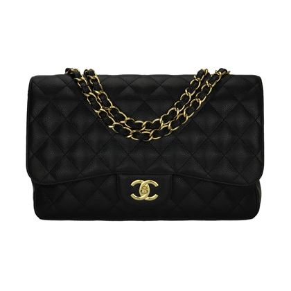 chanel-single-flap-jumbo-black-caviar-gold-hardware-2009-3