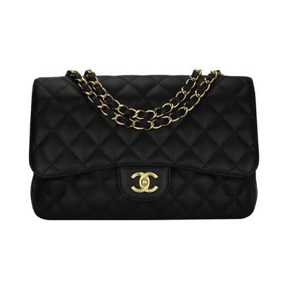 chanel-single-flap-jumbo-black-caviar-gold-hardware-2009-4