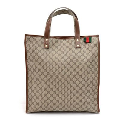 gucci-beige-gg-supreme-coated-canvas-x-brown-leather-large-shopping-tote-bag
