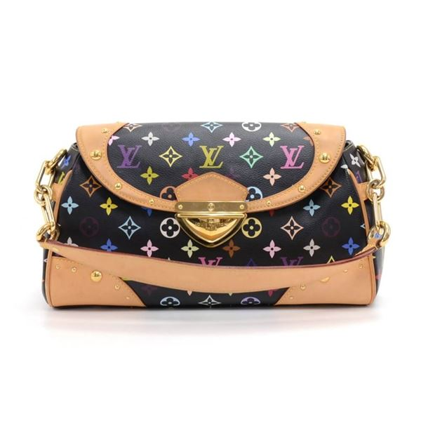 cf87754c89f0 Louis Vuitton Beverly MM Black Multicolor Monogram Canvas ...