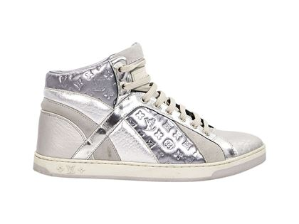 metallic-silver-louis-vuitton-high-top-sneakers