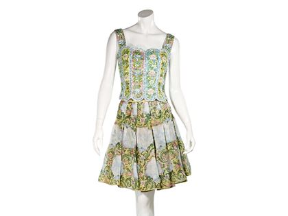 multicolor-vintage-valentino-floral-skirt-set