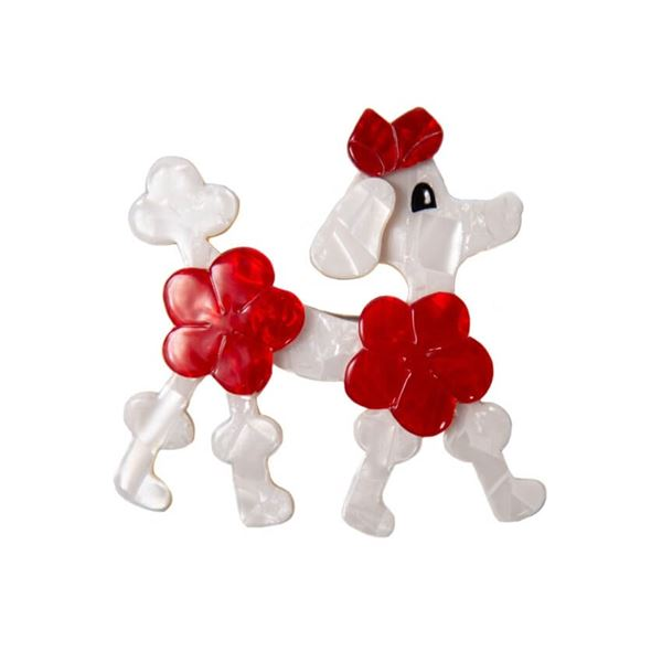 vintage-lea-stein-red-white-poodle-dog-brooch