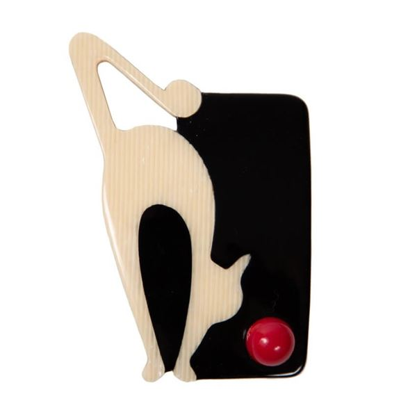 vintage-lea-stein-black-white-red-cat-ball-brooch