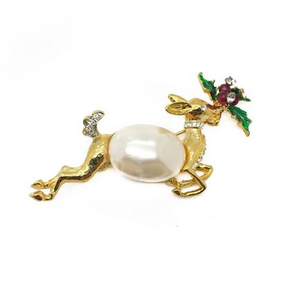 kenneth-jay-lane-vintage-reindeer-brooch-with-pearl-crystal-enamel-1990s