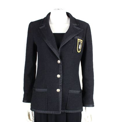 chanel-patch-blazer-famous-little-black-jacket-36-us-4-pre-owned-used
