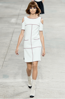 chanel-2014-neon-trim-white-dress-with-cut-out-shoulder-38-us-6-pre-owned-used