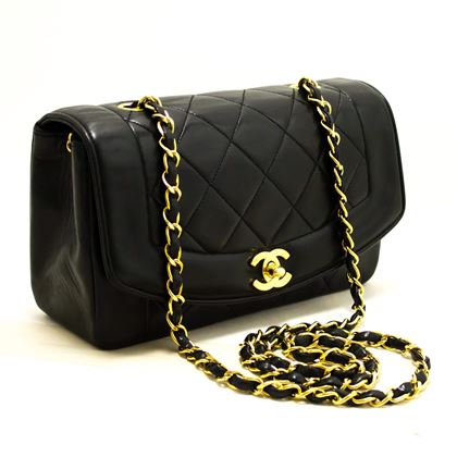 940195aafae9 ... chanel-diana-chain-flap-shoulder-crossbody-bag-black-