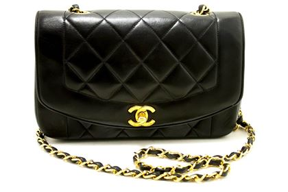 chanel-diana-chain-flap-shoulder-crossbody-bag-black-quilted-lamb-9