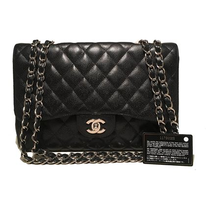 chanel-black-caviar-jumbo-classic-flap-shoulder-bag