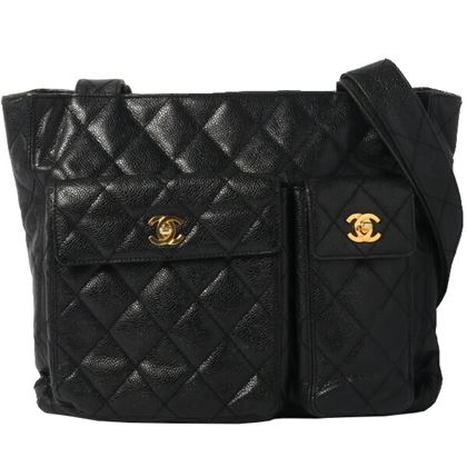 chanel-caviar-skin-turn-lock-tote-bag-black-2