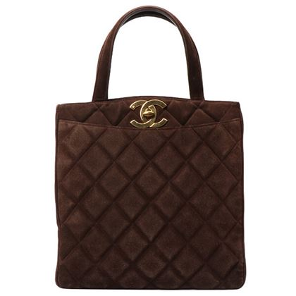 chanel-suede-turn-lock-tote-bag-brown