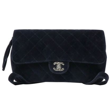 chanel-velour-classic-flap-backpack-navysilver