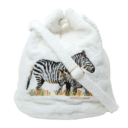 hermes-pile-zebra-embroidered-drawstring-shoulder-bag-white