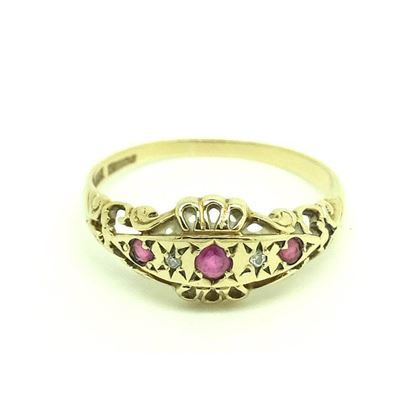 vintage-1980s-diamond-ruby-18ct-gold-ring