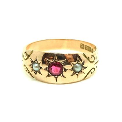 antique-edwardian-ruby-pearl-9ct-yellow-gold-ring