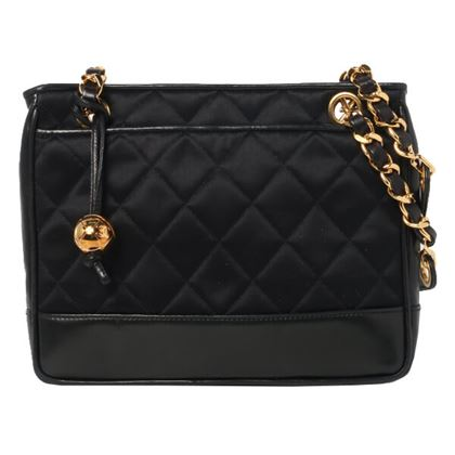chanel-silk-satin-leather-ball-charm-shoulder-bag-black