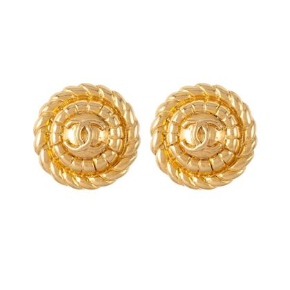 1980s-vintage-chanel-rope-round-clip-on-earrings