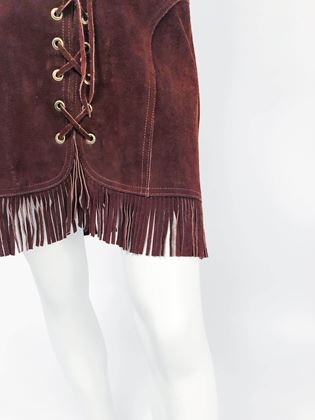 1960s-zig-zag-brown-suede-skirt-with-fringe
