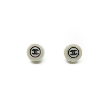 chanel-vintage-white-resin-silver-logo-earrings-1999