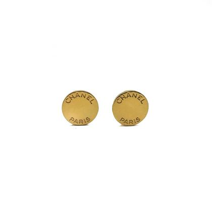 chanel-vintage-gold-button-logo-earrings-1998