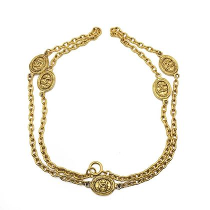 chanel-vintage-byzantine-logo-chain-necklace-1980s