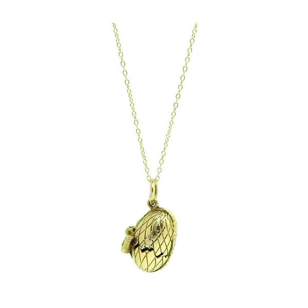 vintage-1942-george-jensen-9ct-yellow-gold-egg-charm-necklace