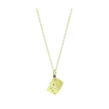 vintage-1960s-9ct-yellow-gold-dice-charm-necklace