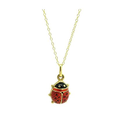 vintage-ladybird-enamel-9ct-gold-charm-necklace