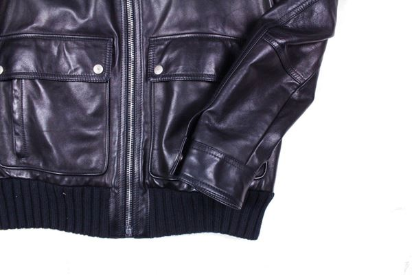 gucci-mens-leather-jacket-black-shearling-collar-50-medium-pre-owned-used