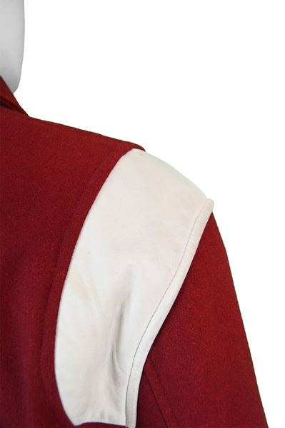 Moschino 1990s Red Letterman Sport Jacket