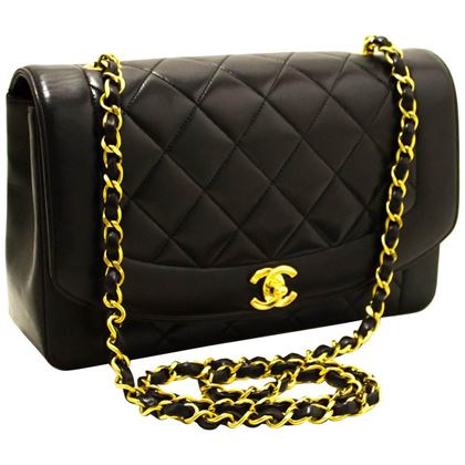 chanel-diana-chain-flap-shoulder-crossbody-bag-black-quilted-lamb-11