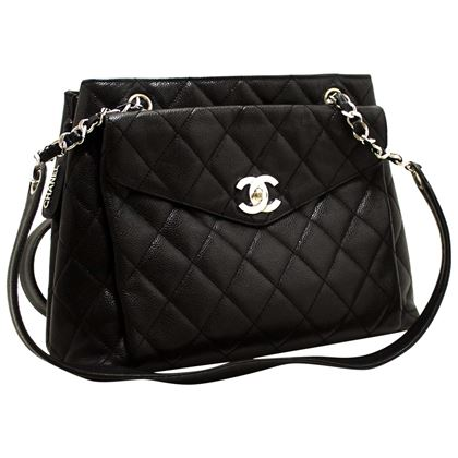 chanel-caviar-quilted-chain-shoulder-bag-leather-black-silver-hw