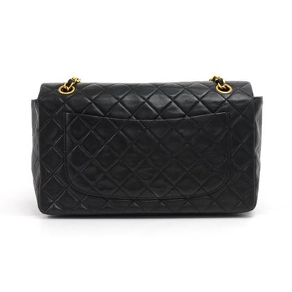 vintage-chanel-medium-flap-black-quilted-lambskin-leather-shoulder-bag-wallet