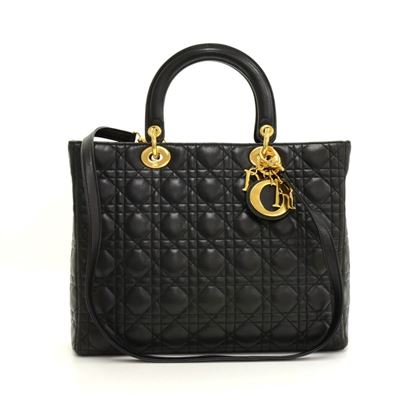christian-dior-lady-dior-large-black-quilted-cannage-leather-handbag-strap-2